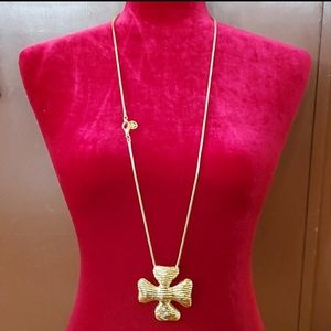 Authentic Givenchy Gold Maltese Cross Neck…